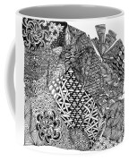 Abstract Zentangle Inspired Design In Black And White Coffee Mug