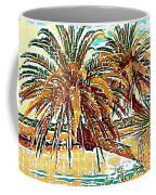 Abstracted Loop Palms Coffee Mug