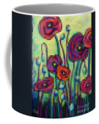 Abstracted Poppies Coffee Mug