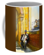 Accordeonist In Florence In Italy Coffee Mug
