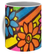 Aceo Abstract Flowers Coffee Mug