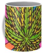 Aceo Cannabis Abstract Leaf  Coffee Mug