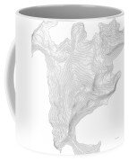 Aconcagua Art Print Contour Map Of Mount Aconcagua In Argentina Coffee Mug