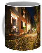 Acorn Street Autumn Boston Mass Painterly Coffee Mug
