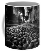 Acorn Street Cobblestone Detail Boston Ma Black And White Coffee Mug