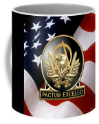 Acquisition Corps - A A C Regimental Insignia U. S. Flag  Coffee Mug