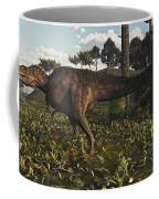 Acrocanthosaurus Dinosaur Roaming Coffee Mug