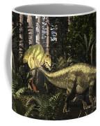 Acrocanthosaurus Hunting Tenontosaurus Coffee Mug