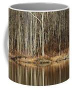 Across Skymount Pond - Autumn Browns Coffee Mug