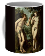 Adam And Eve Coffee Mug by Peter Paul Rubens