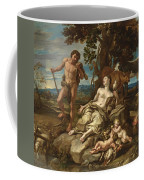 Adam And Eve With The Infants Cain And Abel Coffee Mug