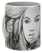 Adele Charcoal Sketch Coffee Mug