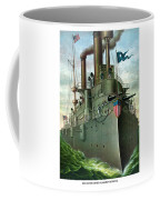 Admiral Dewey's Flagship Olympia  Coffee Mug by War Is Hell Store