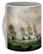 Admiral Sir Edward Hawke Defeating Admiral De Conflans In The Bay Of Biscay Coffee Mug by Thomas Luny