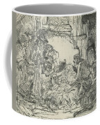 Adoration Of The Shepherds, With Lamp Coffee Mug