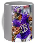 Adrian Peterson Minnesota Vikings Art Coffee Mug