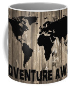 Adventure Awaits Graphic Barn Door Coffee Mug
