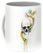 Adventure Time Skull Jake Finn Lady Rainicorn Watercolor Coffee Mug by Olga Shvartsur