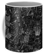 Aerial New York City Skyscrapers Bw Coffee Mug