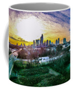 Aerial Of Charlotte North Carolina Skyline Coffee Mug