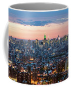 Aerial Of Midtown Manhattan With Empire State Building, New York Coffee Mug