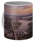 Aerial Seattle View Along Interstate 5 Coffee Mug
