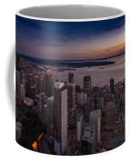 Aerial Seattle Westward View Coffee Mug