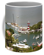 Aerial View Harbour Town Lighthouse In Hilton Head Island Coffee Mug