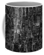 Aerial View Midtown Manhattan Nyc Bw Coffee Mug
