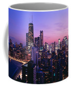 Aerial View Of A City At The Lakeside Coffee Mug