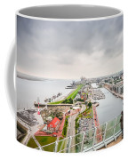 Aerial View Of Famous Havenwelten In Bremerhaven Coffee Mug