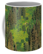 Aerial View Of Forest On Mountainside Coffee Mug