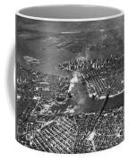 Aerial View Of Lower Manhattan Coffee Mug