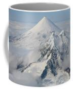 Aerial View Of Shishaldin Volcano Coffee Mug by Richard Roscoe
