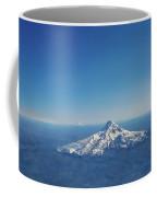 Aerial View Of Snowy Mountain Coffee Mug