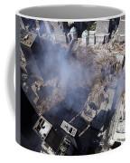 Aerial View Of The Destruction Where Coffee Mug