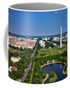 Aerial View Of The National Mall And Washington Monument Coffee Mug