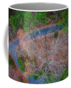 Aerial View Over Wooded Forest And Road Coffee Mug