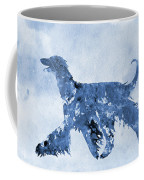 Afghan Hound-blue Coffee Mug