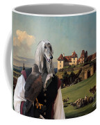 Afghan Hound-falconer And Castle Canvas Fine Art Print Coffee Mug