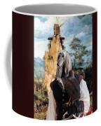 Afghan Hound-falconer And Windmill Canvas Fine Art Print Coffee Mug