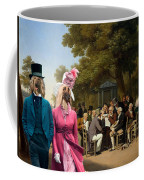 Afghan Hound-politicians In The Tuileries Gardens  Canvas Fine Art Print Coffee Mug