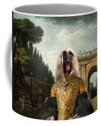 Afghan Hound-the Afternoon Promenade In Rome  Canvas Fine Art Print Coffee Mug