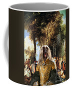 Afghan Hound-the Winch Canvas Fine Art Print Coffee Mug