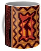 African Collage Rust Coffee Mug