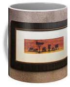 African Elephant Tribal Art Coffee Mug