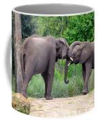 African Elephants Interacting Coffee Mug