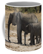 African Elephants Mother And Baby Coffee Mug