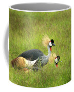 African Gray Crown Crane Coffee Mug