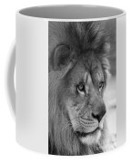 African Lion #8 Black And White Coffee Mug